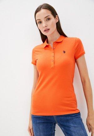 Поло U.S. Polo Assn.. Цвет: оранжевый
