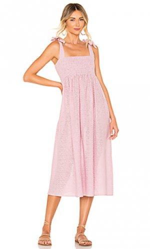 Платье-миди с оборками sicily Marysia Swim. Цвет: бледно-лиловый