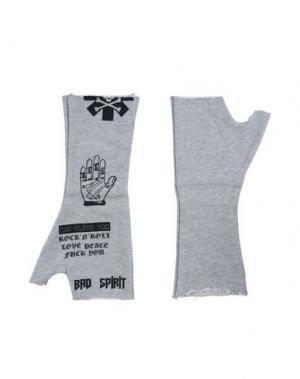 Перчатки BAD SPIRIT. Цвет: серый