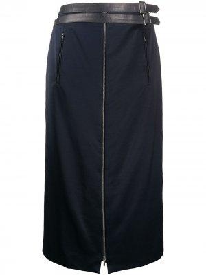Юбка 2000-х годов на молнии pre-owned Christian Dior. Цвет: синий