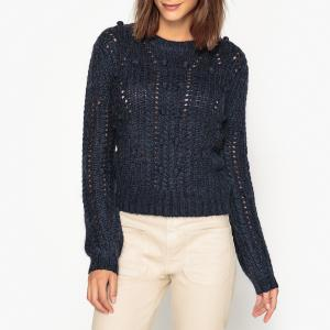 Пуловер с круглым вырезом из трикотажа MARTI MA LEON AND HARPER. Цвет: бежевый,желтый,темно-синий