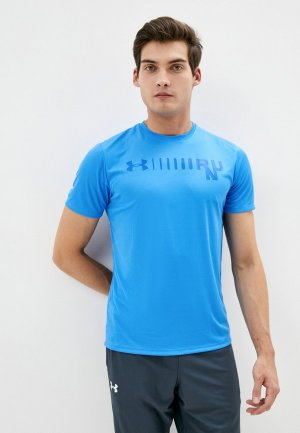 Футболка спортивная Under Armour M UA Speed Stride Graphic Short Sleeve. Цвет: синий