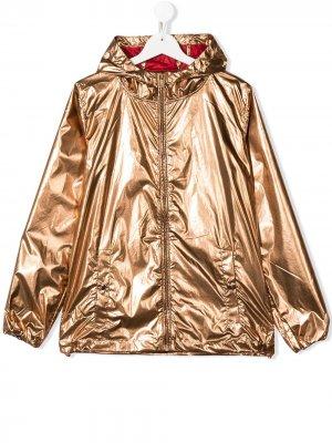 Непромокаемая куртка с эффектом металлик Ciesse Piumini Junior. Цвет: коричневый