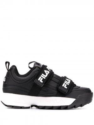 Кроссовки с ремешками Fila. Цвет: черный