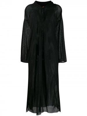 Полупрозрачное платье-туника Jean Paul Gaultier Pre-Owned. Цвет: черный