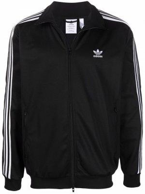 Originals three-stripe zipped jacket adidas. Цвет: черный