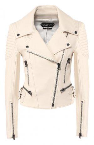 Кожаная куртка Tom Ford. Цвет: бежевый