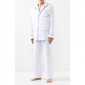 Хлопковая пижама Brioni. Цвет: синий