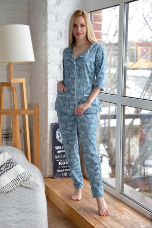 Пижама Lika dress. Цвет: мультиколор