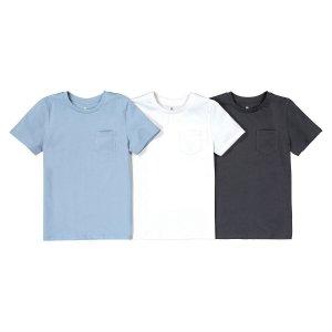 Комплект из 3 футболок однотонных LaRedoute. Цвет: синий