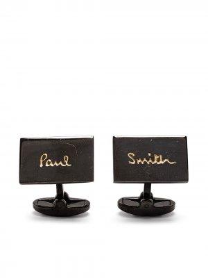 Запонки с гравировкой логотипа PAUL SMITH. Цвет: черный