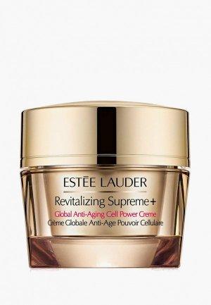 Крем для лица Estee Lauder универсальный сохранения молодости кожи Revitalizing Supreme Plus Global Anti-Aging Cell Power Crème. Цвет: белый