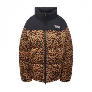 Пуховая куртка VETEMENTS. Цвет: леопардовый