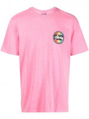 Футболка с логотипом Stussy. Цвет: розовый