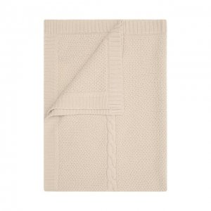 Шерстяное одеяло Baby T. Цвет: бежевый
