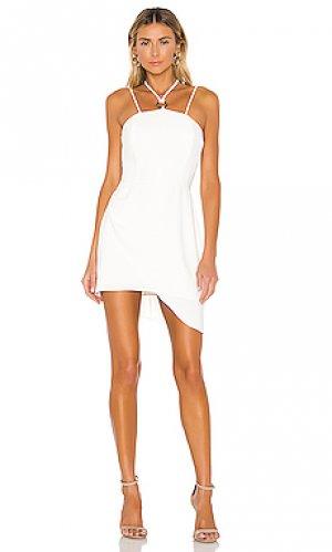 Платье с вырезами rimini Amanda Uprichard. Цвет: белый