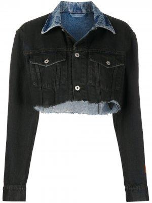Укороченная джинсовая куртка Heron Preston. Цвет: синий