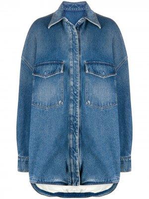 Джинсовая куртка оверсайз The Attico. Цвет: синий