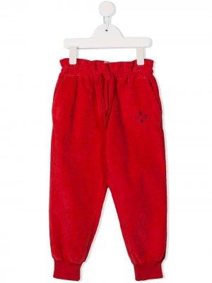 Спортивные брюки с оборками на поясе Bobo Choses. Цвет: красный