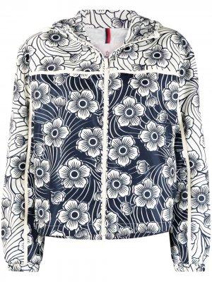Куртка Keragan с цветочным принтом Moncler. Цвет: синий