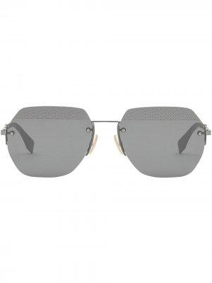 Солнцезащитные очки в геометричной оправе Fendi Eyewear. Цвет: черный