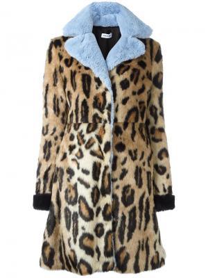 Пальто с животным принтом Au Jour Le. Цвет: телесный