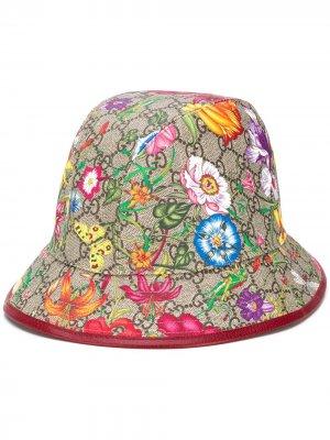 Панама GG Flora Gucci. Цвет: нейтральные цвета