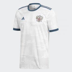 Гостевая игровая футболка сборной России Performance adidas. Цвет: белый
