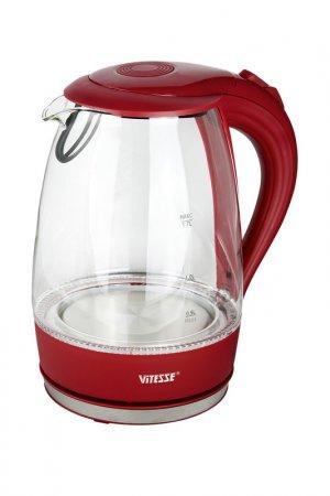 Чайник электрический 1,7л Vitesse. Цвет: красный