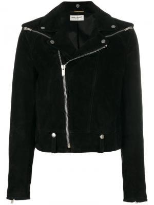Байкерская куртка Saint Laurent. Цвет: чёрный