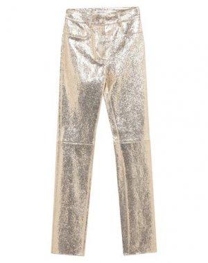 Повседневные брюки JITROIS. Цвет: платиновый