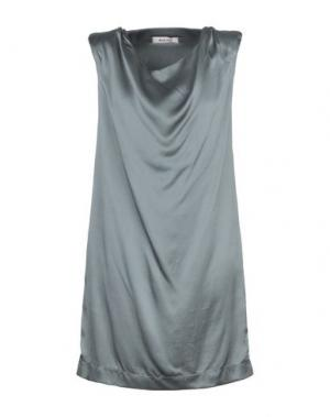 Короткое платье BLUE DEEP. Цвет: серый