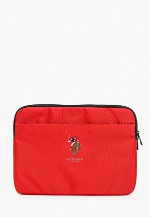 Чехол для ноутбука U.S. Polo Assn. 13, Computer Sleeve Double horse Red. Цвет: красный