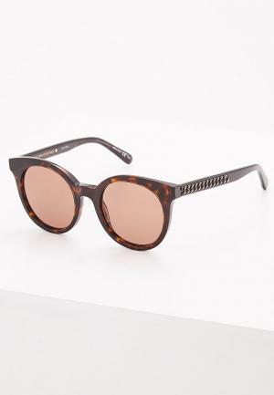 Очки солнцезащитные Stella McCartney SC0097S002. Цвет: коричневый