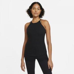 Женская майка Yoga Pointelle - Черный Nike