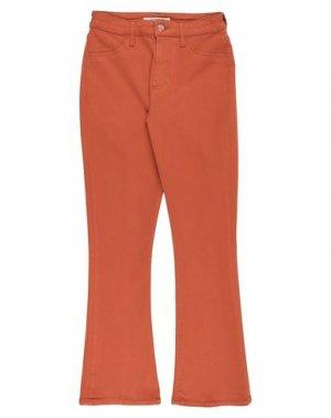 Джинсовые брюки DON THE FULLER. Цвет: коричневый