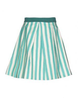 Юбка до колена EGGS. Цвет: светло-зеленый