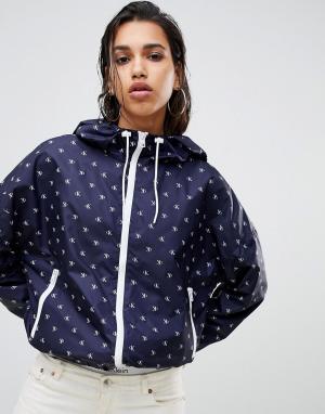 Ветровка с принтом Jeans Calvin Klein. Цвет: синий