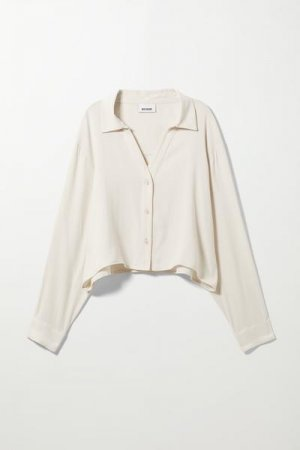 Блузка Amabella Weekday. Цвет: белый