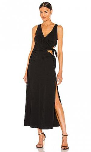 Платье raina LPA. Цвет: черный