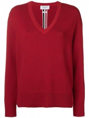 Пуловер мешковатого кроя с V-образной горловиной Thom Browne