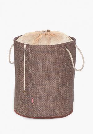 Корзина для белья Casy Home. Цвет: коричневый