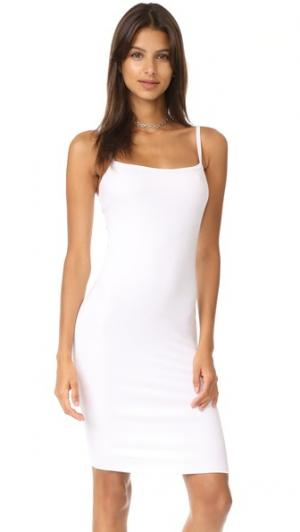 Двухслойное платье без рукавов LNA. Цвет: белый