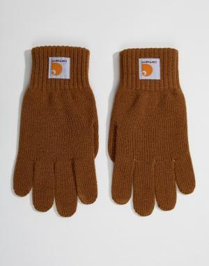Коричневые перчатки Watch Carhartt WIP. Цвет: коричневый
