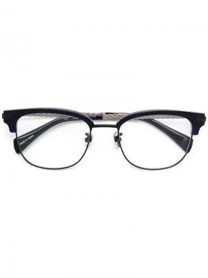 Очки в квадратной оправе Yohji Yamamoto Vintage. Цвет: синий
