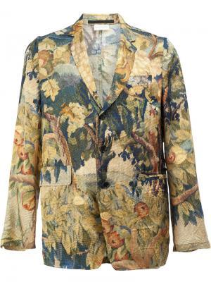 Блейзер с лиственным принтом Dries Van Noten. Цвет: многоцветный