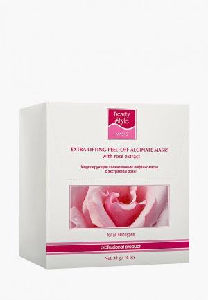 Маска для лица Beauty Style с экстрактом розы, 30 гр. Цвет: белый