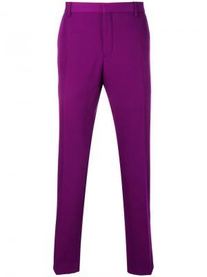 Строгие брюки с классической талией Calvin Klein. Цвет: фиолетовый