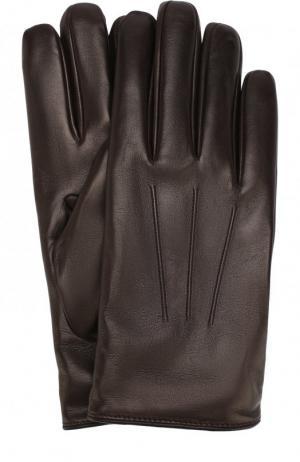Кожаные перчатки Brioni. Цвет: коричневый