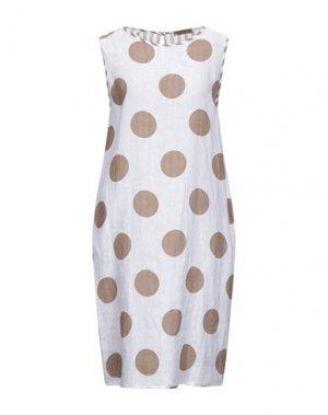 Платье до колена CLUB VOLTAIRE. Цвет: белый